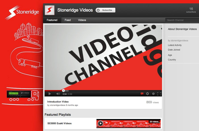 Stoneridge Youtube Channel and Kinetic type Motion Video