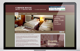 Cornerhouse Hotel Carlisle Web Design Thumbnail