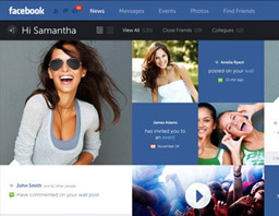 Facebook UI and UX redesign concepts by Designer Fred Nerby