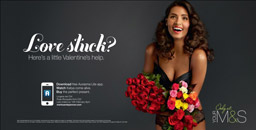 Marks and Spencer Valentines AR ad