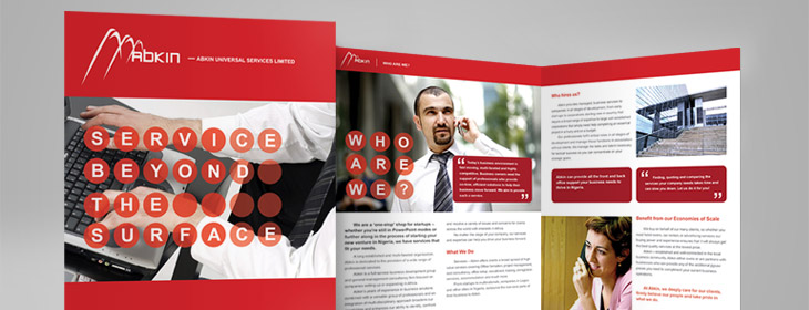 Abkin Services Brochure Design