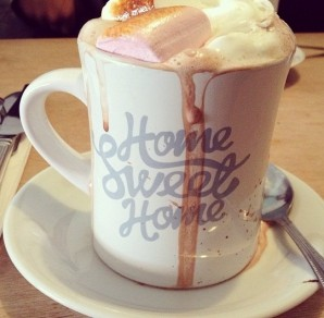 Hot Chocolate drink from Home Sweet Home in the Northern Quarter
